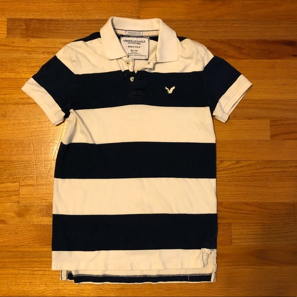 6108e5e83b7 American Eagle Outfitters Shirts | Blue And White Striped American ...